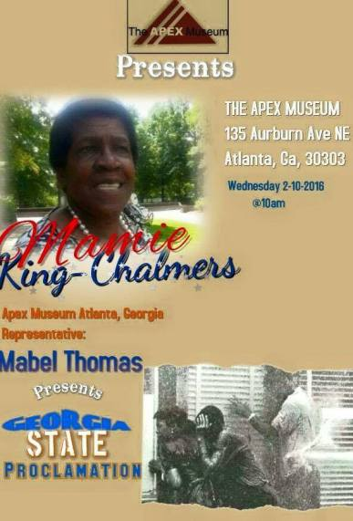 Apex Museum Mamie King Chalmers Event
