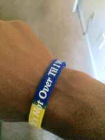 Its not over til i win bracelet front