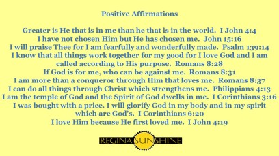 RS Affirmations Yellow Postcard Scriptures
