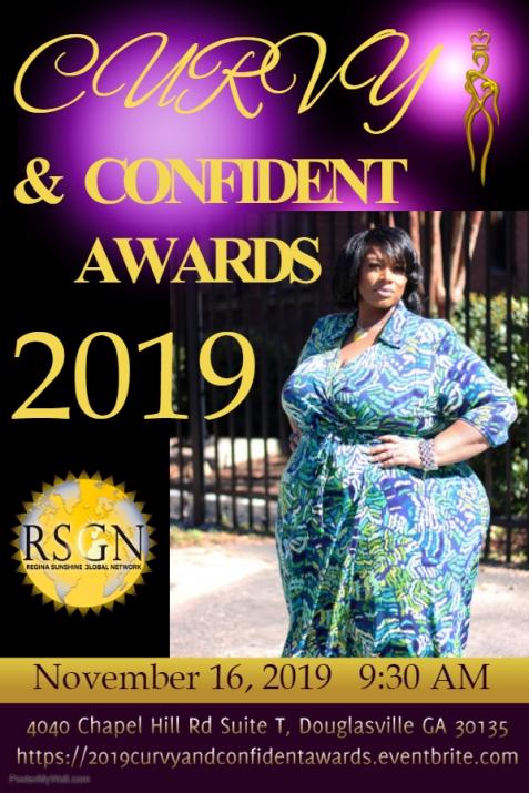 2019 Curvy & Confident Awards Flyer