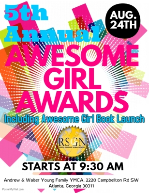 2019 Awesome Girl Awards Flyer