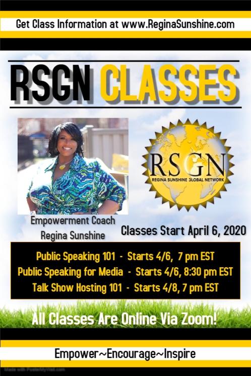 April 2020 Class Flyer
